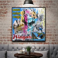 Wholesale black white oil art for sale - Group buy Pop style Graffiti Wall Art Images Paint on Canvas Street Art Nordic Painting Black White Abstract Art Canvas Print Wall Decor