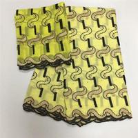 pamuklu örgü kumaş toptan satış-Lc! Fransız Net Dantel Kumaş Güzel Yüksek Kalite Taşlarla Afrika Vual Dantel Pamuk Fraric İsviçre'de İsviçre Vual! J81858