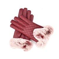 ingrosso cadono i guanti invernali-Guanti per guanti in pelle per donna Guanti per touch screen Le donne cadono e si ispessiscono all'inverno e mantengono caldi guanti in PU per la moda nella moda Guanto Trendy Female
