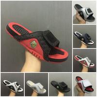 chinelos de sapato de basquete venda por atacado-Atacado novo 13 chinelos 13 s Azul preto branco sandálias vermelhas Hidro Slides tênis de basquete casual correndo tênis tamanho 7-13