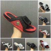 blaue sandalen schuhe groihandel-Neue neue 13 Hausschuhe 13s blaue schwarze weiße rote Sandalen der Hydro-Dias-Basketballschuhe beiläufige laufende Turnschuhgröße 7-13