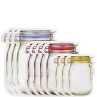 janela octogonal venda por atacado-Novo criativo Mason Jar garrafa de armazenamento Food Bags Jam Cup Modeling Food saco selado cozimento chá lanches sacos de viagem portátil 0 58jj H1