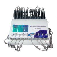 mikro akım makineleri toptan satış-Mikro Akım Kilo Kaybı Cihazı Elektrik Kas Stimülasyon Vücut Zayıflama Makinesi 10 Pairs Yamalar Ücretsiz Kargo TM-502B