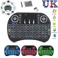 teclado riu mini i8 bluetooth venda por atacado-Mini caixa de controle remoto sem fio da tevê do andróide do teclado do rato do ar de Rii i8 do teclado