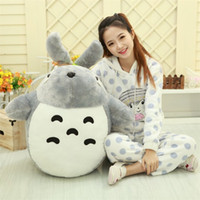 Wholesale cute valentines day gifts online - Tonari No Totoro Plush Toy Cute Pet Pillow Doll Child Birthday Present Valentine Day Gift Lovely Large yy I1