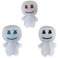 boneca de crianças negras venda por atacado-Marshmello dj brinquedos azul preto cor vermelha macio bonecos de pelúcia crianças do partido do dia das bruxas favor novidade itens 25 cm 16dh e1