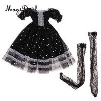 muñeca bjd princesa al por mayor-1/3 lindo vestido de princesa con gasas y medias de encaje negras para cambiar de muñeca BJD