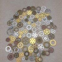 Wholesale antique metal tools resale online - Sweet pattern Mixed Assorted gear Charms Pendants gear Metal Alloy Pandent Color Antique Bronze Diy