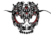 Wholesale metal skull masks resale online - New Skull Mask Mardi Gras Masquerade Ball Venetian Laser Cut Metal Face Mask Black And Red For Masquerade Party