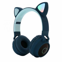 Wholesale kids cell phones for sale – best Cute Cartoon Bluetooth Headphones Children LED Cat Ear Wireless Stereo Headset Kids Sport Gaming Headband with Mic for Smart Phones Call