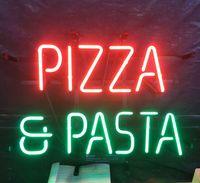 ingrosso pubblicizza l'arte-PIZZA PASTA Neon Sign Light Bar Pubblicità Intrattenimento Decorazione Art Display Real Glass Lampada Metal Frame 17 '' 24 '' 30''40 ''