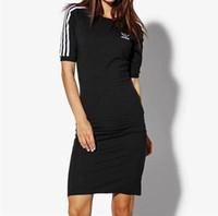 kısa spor elbiseleri toptan satış-Yaz kadın rahat kıyafetler o-boyun mektup pamuk kısa kollu spor gömlekler tasarımcı üstleri tee