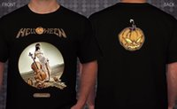 dessins de cou de bande achat en gros de-Cool T Shirts Designs Gift O - Cou Court - Manches Helloween Unarmed Allemand Power Metal Band T-shirt Tailles: S à 3xl Chemises Pour Hommes