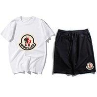 chándales de tendencia al por mayor-2019 New Trend Brand Trajes de sudadera Diseñador Hombre Ejecución de Chándales Traje Traje de hombre Casual Manga corta + shorts Conjuntos de ropa deportiva