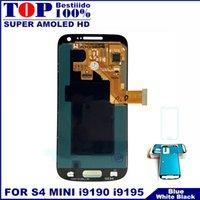 ecrã táctil lcd i9195 venda por atacado-AMOLED Display LCD Digitador Da Tela de Toque Para Samsung Galaxy S4 Mini I9190 I9192 Telefone I9195 LCDS com Adesivo De Vidro Temperado