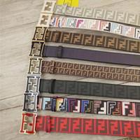 Wholesale men belt letter resale online - F Letter Personality Belt Adult Cowskin Casual Smooth Head Buckle Fashion Accessories Leather Belt Men Gift TTA906