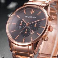 assistir mulher big bang venda por atacado-Casual relógio de Quartzo Menes Mulheres Top Maserati Relógios De Aço Inoxidável Relojes Hombre Horloge Orologio Uomo Montre Homme SPROT big bang