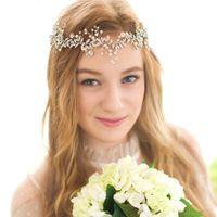 Wholesale stunning wedding hair for sale - Group buy Handmade Luxury Wedding Rhinestone Crystal Bridal Hair Vine Headband Headpiece Stunning Party Hair Jewelry For Brides Headband