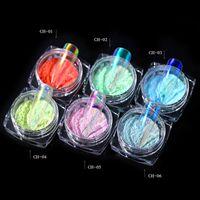 tırnak jel malzemeleri toptan satış-0.2g Buz Şeffaf Krom Tırnak Glitter Mermaid Ayna Nail Art Süslemeleri Manikür UV Jel Lehçe Pigment Kaynağı