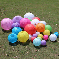Wholesale baby shower baskets for sale - Group buy 2019 Pieces Inch colors Round Chinese Paper Lanterns For Baby Shower Birthday Party And Wedding Decoration Hanging Lanterns