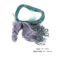 redes de emalhar venda por atacado-1.8 * 30 m monofilamento 60mm Malha Furo Único Camada de Pesca Rede de Brânquias Monofilamento Gill Net