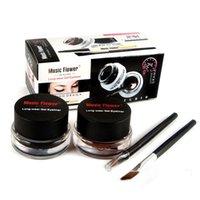 ingrosso marchio cosmetico fiore di musica-Musica Fiore Marca Eye Makeup Eyeliner Gel Brushes Makeup Palette Waterproof Black Brown Natural Eye Liner Cosmetics Set