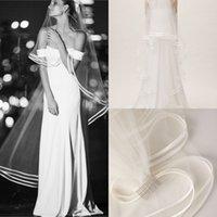 véus de valsa venda por atacado-1 T Uma Camada Véus De Noiva Waltz Comprimento Tulle 1.8 m Comprimento Véus De Noiva Venda Quente Acessórios Da Noiva Com Pente Livre