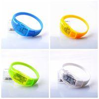 armband silikon armband geführt groihandel-Neue Sound Control LED Blinkt Armband Club Party Bar Cheer Armband Kreative Silikon Hand Ring 3 3xl Ww