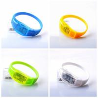 pulseira de silicone pulseira levou venda por atacado-Novo Controle de Som LED Piscando Pulseira Club Party Elogio Pulseira Pulseira de Silicone Criativo Anel de Mão 3 3xl Ww