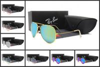 objektivflieger groihandel-Männer polarisierten RayBanSonnenbrille Klassische Flieger-Sonnenbrillen Frauen Driving Gläser UV400 Metallrahmen Flash-Spiegel polaroid Objektive