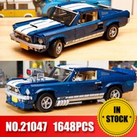 Wholesale build blocks for sale - Group buy Forded Mustanged lepining Creator Technic lepinblocks Compatible Set Building Blocks Car Bricks Toys Birthday Gifts