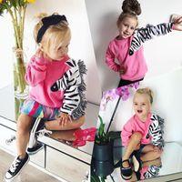 зебра для девочек оптовых-Pudcoco 0-5T Toddler Baby Girls Zebra Tassels Cotton Top Sweatshirt Hoodies Autumn Baby Girl Clothes