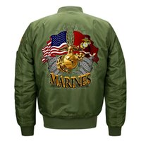 ingrosso bandiera giapponese-Giacche bomber moda uomo bandiera americana air force giacche pilota autunno giacca a vento per uomo giapponese streetwear plus size s-8xl