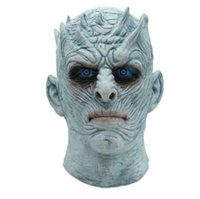 ingrosso halloween costume di zombie-Film Game of Thrones Night King Mask Halloween Realistico Spaventoso Costume Cosplay Latex Party Mask Adult Zombie Props