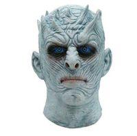 tronos de juego disfraces al por mayor-Película Juego de tronos Noche Rey Máscara de Halloween Realista Scary Cosplay Disfraz Latex Party Mask Adult Zombie Props