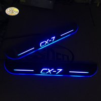 Wholesale car door sill led lights resale online - SNCN LED moving light scuff pedal for CX CX7 car acrylic led door sill welcome pedal