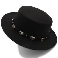Women Men Wool Flat Homburg Fedora Hat Lady Gentleman Spring Summer Autumn Jazz Church Boater Pork Pie Caps
