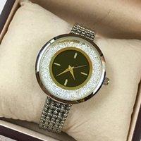 rollen sie goldstrasssteine großhandel-Edelstahl Frauen Uhr Rose Gold / Silber Armbanduhr Roll Diamant Lady Fashion Luxus Quarz Strass Uhr Uhren De Marca Mujer