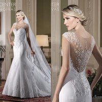 Wholesale brazil caps for sale - Group buy 2019 Illusion Back Sweetheart Neck Wedding Dresses Back Cover Buttons Mermaid Sweep Train Country Style Brazil Bridal Gowns Custom Made