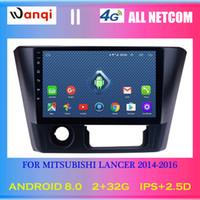 ingrosso schermo lancer-4G Lte Tutto Netcom Android 8.0 Auto Stereo 9 pollici touch screen HD per 2014-2016 Mitsubishi Lancer Radio GPS Navigazione dvd per auto