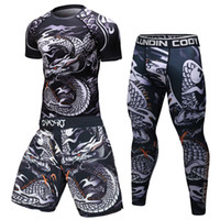 мужская одежда спортивная одежда оптовых- New Men Tracksuit Sports Suit Gym Fitness Compression Clothes Running Jogging Sport Wear Exercise Workout Rashguard Tights