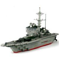ingrosso barca modello navy-228 pz / set Cruiser Building Block Mattone yummy Nave Militare Modello Battaglia Nave Da Guerra Navy Nave Barca Giocattolo Attrezzature Technic Designer Y190606