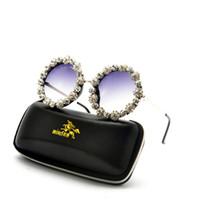 kadın s yuvarlak güneş gözlüğü toptan satış-2019 Vintage büyük bling rhinestone yuvarlak güneş gözlüğü kadın erkek Marka Tasarımcısı retro kadın Çerçeve Güneş Gözlükleri Shades Gözlük NX
