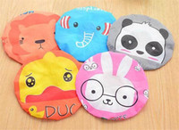 Wholesale shower hair band for sale - Group buy Cute Cartoon Animal Waterproof Shower Cap Resuable Lace Elastic Band Bath Hair Caps Hat