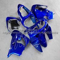 blau 1998 zx9r großhandel-23colors + Botls blau Motorradartikel für Kawasaki ZX9R 1998-1999 ABS Kunststoffverkleidung ZX-9R 98 99