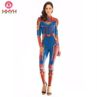 Wholesale cosplay trendy for sale - Trendy Cosplay Super Hero Women D Printed Bodybuilding Pullover T Shirt Fashion New Round Collar Long Short Sleeve Slim Leggings Pants