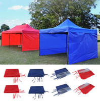 Wholesale family camping tents resale online - Tent cloth Side Wall Carport Garage Enclosure Shelter Tent Party Sun Wall Sunshade Shelter Tarp Side wall Sunshade