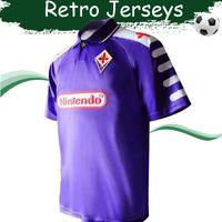 cae59dff09b Retro Soccer Jersey 98 99 Fiorentina Classics Shirts #9 BATISTUTA Home  Football Jerseys 1998 Purple Camisa On Sales