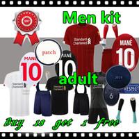 le football des hommes t shirts achat en gros de-2019 2020 Kits complets de maillots de football pour enfants M.SALAH de Liverpool  19 20 kits de maillots de football avec chaussettes MANE FIRMINO VIRGIL HENDERSON ORIGI