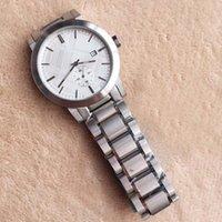 браслеты для батареек оптовых-Новый Desigh 42 ММ Платье Мужские Часы Кварцевые Батареи Хронограф Мужские Часы Браслет Из Нержавеющей